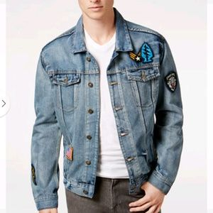 Ring Of Fire Patch Denim Jacket NWT